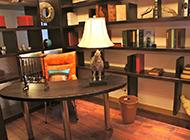 新中式书房组装博古架装修效果图