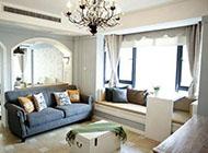 地中海風格家庭客廳裝修效果圖