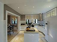 简约半开放式厨房设计效果图
