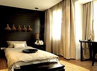 时尚简约卧室窗帘装修效果图