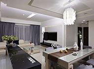 现代简约时尚风格客厅电视背景墙造型