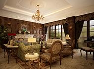 别墅华丽欧式客堂设计后果图