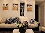 黑白簡約風格四居室裝修設計圖