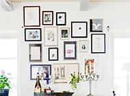 创意相片墙效果图客厅设计图