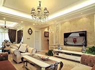 别墅大气奢华客厅电视背景墙图片