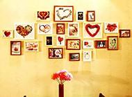 家庭餐廳唯美相片墻設計圖片
