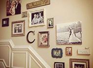楼梯照片墙装修效果图温馨有爱