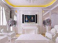 精致浪漫的欧式电视背景墙装修效果图