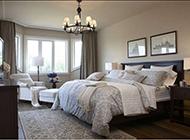 别墅卧室优雅简欧风格效果图