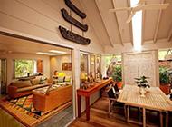 三居室高档美式度假别墅装修效果图