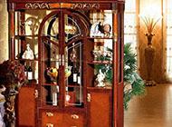 欧式风格酒柜博古架图片
