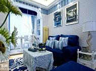 145平方米藍色清新地中海風格裝修圖片