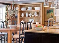 整洁的小户型田园厨房设计效果图