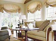 時尚美觀的飄窗窗簾效果圖