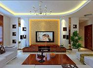 古韵中式电视背景墙效果图