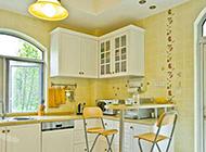小户型简单清新田园厨房装修图