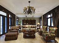 纯正美式别墅装修效果图 风格大方低调