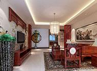 中式电视背景墙设计韵味古典