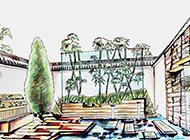 现代化室外花园装修设计图
