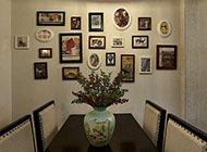 饭厅挂墙相框组合创意相片墙图片