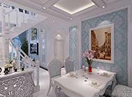 浪漫之都的法式餐厅装修效果图