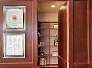 书房美式隐形门设计效果图大方简单