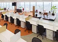 現代時尚開放式辦公室裝修設計圖片