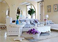 復式別墅藍白色溫馨地中海裝修風格