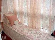 充滿浪漫情調的飄窗窗簾效果圖