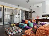 明艳碎花浪漫复古风格公寓设计