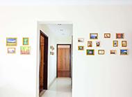 相片墻室內裝修設計效果圖
