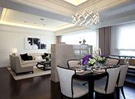 温馨三居室时髦装修后果图典雅精细
