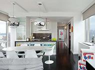 120平米宽敞明亮的摩登公寓设计效果图