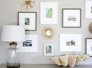 玄關處純白色背景墻裝飾品掛件欣賞