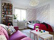 北欧温馨浪漫小型公寓装修效果图