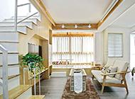大户型复式简约客厅装修效果图