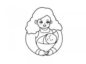 母亲节简笔画