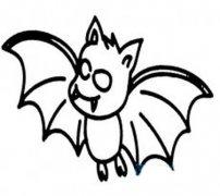 恐怖蝙蝠简笔画图片