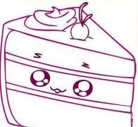 卡通蛋糕简笔画