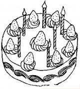 生日蛋糕蜡烛简笔画图片