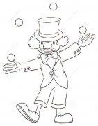 站立的小丑简笔画图片