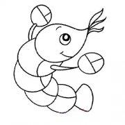 可爱的虾简笔画