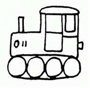 履带式拖拉机简笔画图片