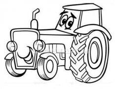 少儿卡通拖拉机简笔画图片