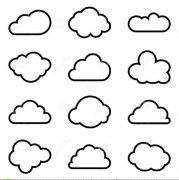 手绘各种形状的云朵简笔画图片大全