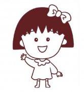 儿童可爱的樱桃小丸子简笔画图片