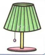 带颜色的台灯简笔画图片