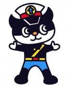 儿童带颜色的黑猫警长简笔画图片