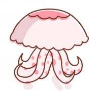 带颜色的水母简笔画图片
