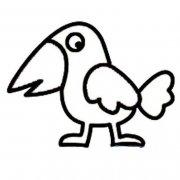 儿童乌鸦简笔画图片